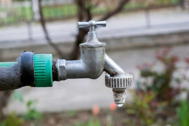 outdoor faucet, sod during drought considerations