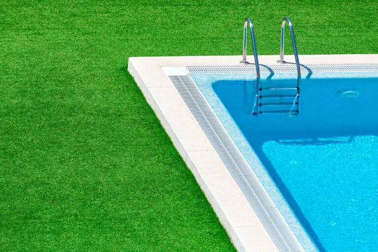 pool with sod landscaping