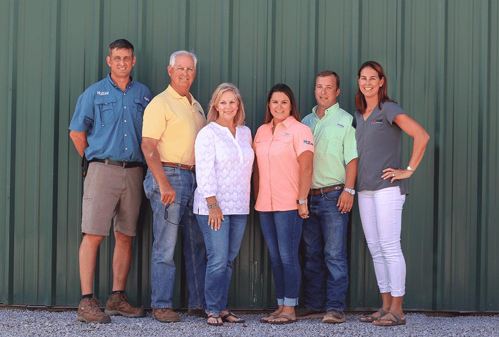 family sod farm group photo