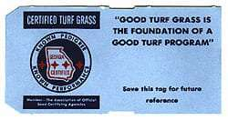 blue tag certified turfgrass