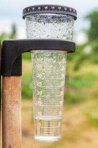 water gauge, measuring sprinkler output