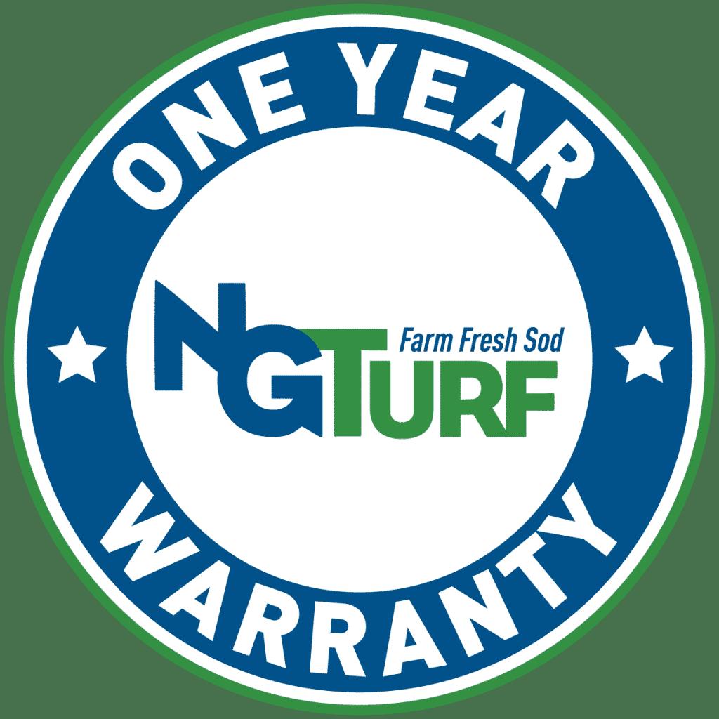 one year warranty on NG Turf farm fresh sod