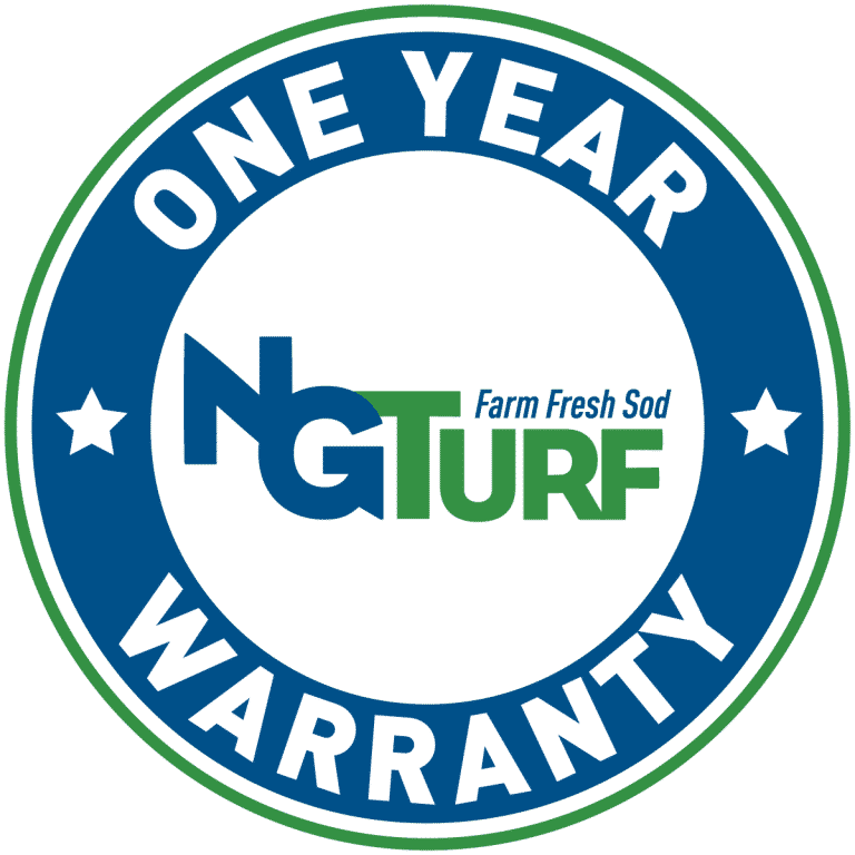 one year NG Turf sod warranty seal