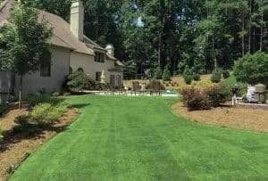 house with yard of Certified zeon zoysia Sod