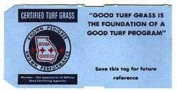 Certified turf grass certification