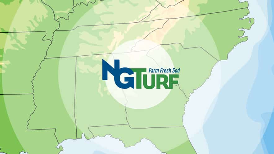 NG Turf sod delivery location map