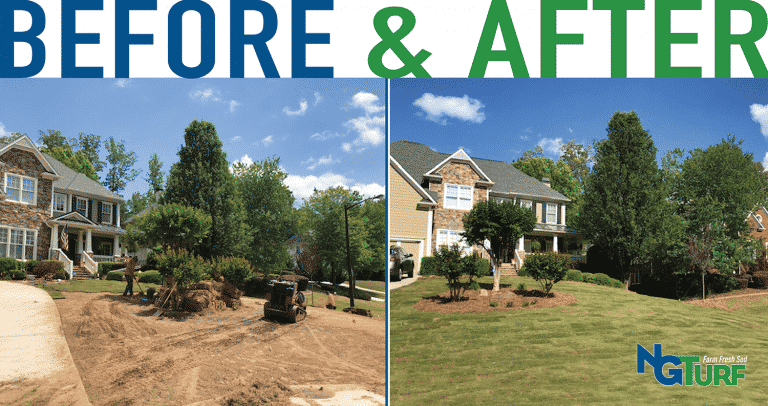 Mableton, Georgia Home Makeover with new zeon zoysia sod