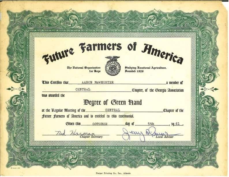 FFA Certificate copy