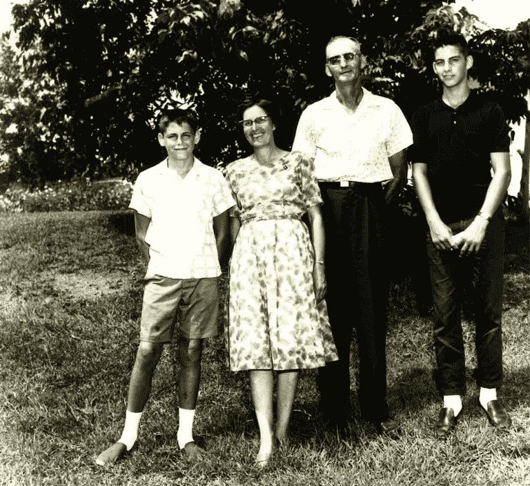 vintage photo on family farm