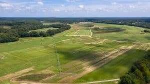 arial view of NG Turf's sod farm