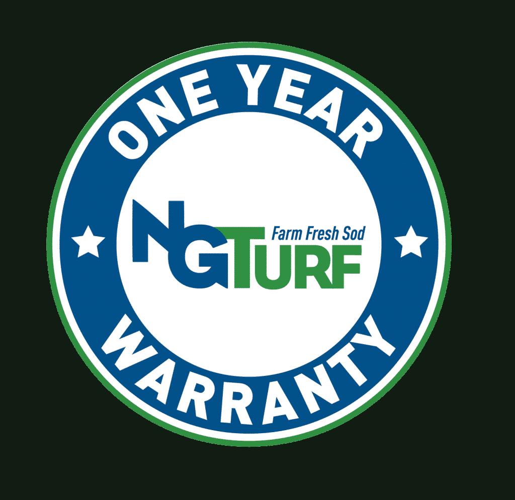 NG Turf's one year warrant logo