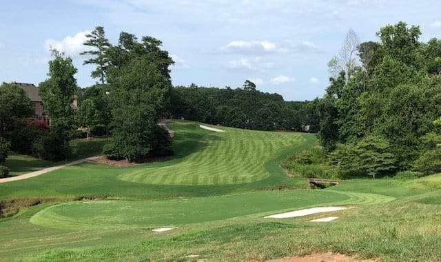 Sugarloaf golf course with newly installed zeon zoysia sod from NG Turf, Duluth, Georgia