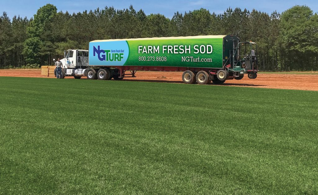 NG Turf sod delivery truck