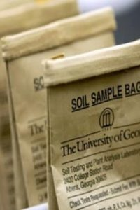soil testing bags from local extension office